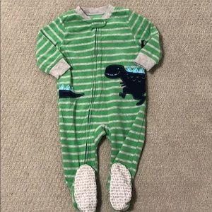 Baby boy fleece footies.